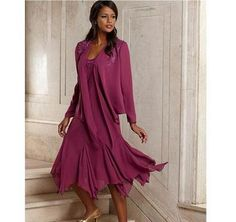 Vintage Elegant Chiffon Plus Size Mother Of The Bride Dresses With Jacket Tea Length Groom Pant Suits Gowns For Weddings