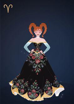 So I'm redoing my old Disney Zodiacs! More Zodiac… Disney Princess Zodiac, Disney Princess Fashion, Disney Style, Disney Love, Disney Fashion, Arte Disney, Disney Magic, Disney Frozen, Old Disney