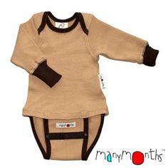 Op vraag van verschillende mama's hebben we weer de ManyMonths wollen body/shirt in huis. Het ideale rompertje voor boven een wasbare luier. Superduurzaam ook door de mooie kwaliteit en de meegroeiknopjes.