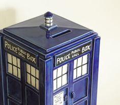 Dr who on pinterest doctor who tardis tardis dress and police - Tardis piggy bank ...