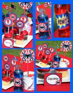 SPIDERMAN Party - Complete Package - Boy Birthday Party - Super Hero - Superheroes- Krown Kreations. $25.00, via Etsy.
