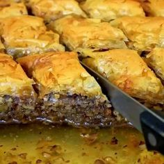Baklava (Walnut and Honey Pastry) Greek Sweets, Greek Desserts, Greek Recipes, Food Network Recipes, Cooking Recipes, Greek Pastries, The Kitchen Food Network, Food Gallery, Greek Dishes