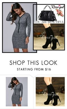 """Bodycon Dress"" by dzemila-c ❤ liked on Polyvore featuring rosegal"