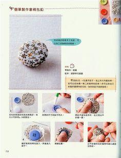 Lulu Art's: Forrando botão manualmente e Flor de Fuxico diferente