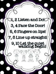 Line Up Rhyme - would be good for primary :)