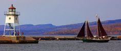 """Set sail on Lake Superior aboard North House schooner Hjørdis - a 50' traditionally rigged schooner.""  Grand Marais, Minnesota.  From the North House Folk School website."