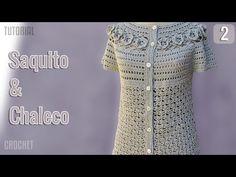 Saquito y Chaleco de verano para mujer, tejido a crochet (2 de 3) - YouTube