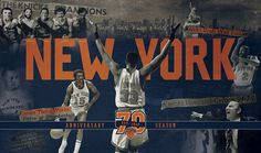 New York Knicks 70th Anniversary Creative Campaign on Behance