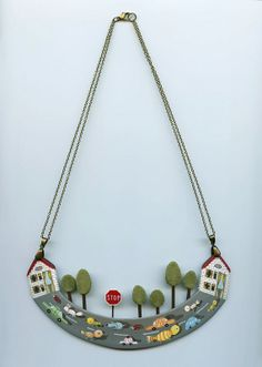 I made this necklace and I named it: Rush Hourhttp://www.pinterest.com/umla/jewelry-2/