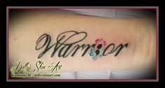 Chelsey is a warrior warrior black water color lettering font script blue pink white forearm semicolon tattoo kamloops tattoo dolly's. Tattoo Word Fonts, Tattoo Script, Word Tattoos, Tattoo Quotes, Tatoos, Arm Tats, Forearm Tattoos, Future Tattoos, New Tattoos