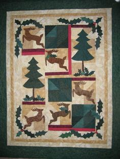 Another holiday quilt -- I love decorating for Christmas with quilts.