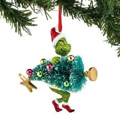 Dept 56 Grinch 2018 Grinch w//The Book Ornament #6000300 NEW