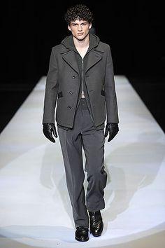 Fall 2009  Emporio Armani Mens Fashion Online, Stylish Mens Fashion, Stylish Menswear, Armani Men, Giorgio Armani, Emporio Armani, Simon Nessman, Hermes Men, Fashion Gallery