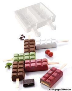 Molde silicona Tableta Chocolate Helado SLK