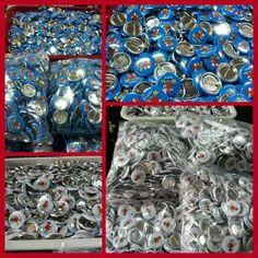 Chapas personalizadas en grandes cantidades. Chapas de 31 mm para campañas promocionales y publicitarias en Chapea.com , #Chapas_Personalizadas #Merchandising