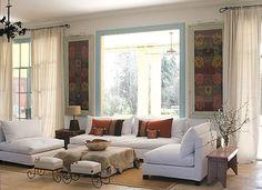 revista living decoración | Cómo decorar un living Sage Living Room, Couch, Windows, Curtains, Furniture, Home Decor, Ideas Prácticas, Interiors, Natural