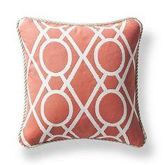 Espalier Coral Outdoor Pillow