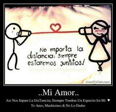 No hay distancia q no vensa el amor