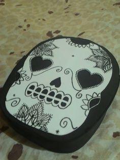 Diy bolsa de caveira mexicana