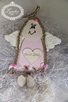 "Lavenderia - decoupage i inne: ""Anioł Stróż"" w warkoczach Decoupage, Christmas Ornaments, Holiday Decor, Christmas Jewelry, Christmas Decorations, Christmas Decor"
