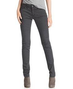 Else Jeans, Skinny Polka Dot-Print