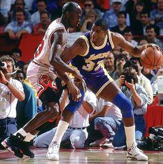 Earving Magic Johnson Los Angeles Lakers Michael Jordan Chicago Bulls