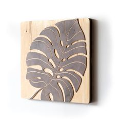 The Monstera panel leaves you with an organic wall of contemporary curves. Listing includes one Monstera wall panel and mounting backplate. Wooden Wall Panels, Decorative Wall Panels, Wood Panel Walls, Wooden Walls, Wood Paneling, Wood Wall Art, Cuadros Diy, Art Diy, Art Carved