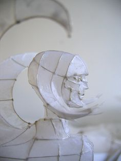 Paper and Wire Sculpture: sphinx to go on show at Papershapers, Giant Robot, Scion Installation L.A., via Flickr.