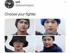 choose between bottle cap, bucket head, cuteness killer or straight-outta-an-anime guy