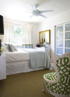 White, Apple Green & Light Blue Bedroom - Tiffany's Bedroom by Samantha Pynn