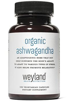 Weyland: Organic Ashwagandha (100 Vegetarian Capsules) Weyland Brain Nutrition http://www.amazon.com/dp/B0195VO0YG/ref=cm_sw_r_pi_dp_r3Hfxb153KY1D