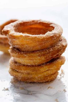 Crispy on the outside, soft on the inside, and exactly how a Churro should be.but without deep frying! Baked Donut Recipes, Fruit Recipes, Apple Recipes, Mexican Food Recipes, Dessert Recipes, Seafood Recipes, Yummy Recipes, Healthy Recipes, Mini Desserts