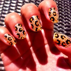 Sephora nail bling leopard! #mynails