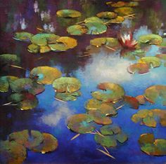 "FloatingOnClouds by Teresa Saia Pastel ~ 30"" x 30"""