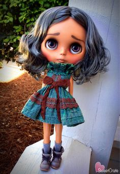 Tallulah Custom Blythe Doll 78 by SweetCrate on Etsy