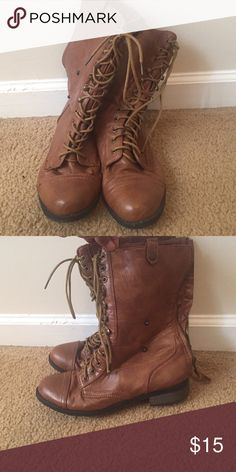Brown combat boots In good condition Shoes Combat & Moto Boots