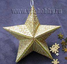 звезда расписанная золотым контуром своими руками
