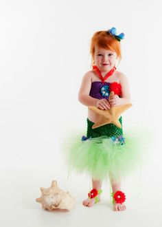 The Little Mermaid Ariel tutu outfit girls by TarteLabelCouture