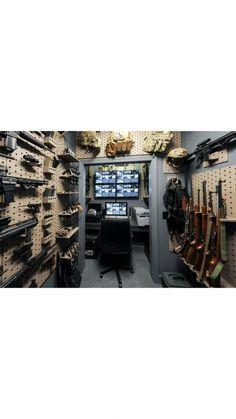 61 Ideas hidden storage for guns panic rooms Hidden Gun Rooms, Hidden Gun Storage, Weapon Storage, Ammo Storage, Tactical Wall, Tactical Gear, Gun Safe Room, Hidden Gun Cabinets, Security Room
