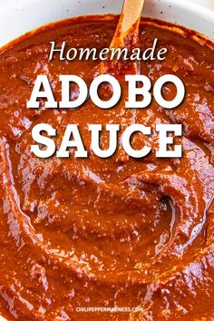 Adobo Sauce Recipe - This homemade adobo sauce recipe is classic, authentic Mexican cuisine, made with ancho and guajillo peppers. It is earthy, spicy and huge on flavor. via Food Recipes Easy, Food Recipes Deserts Menudo Recipe, Recipe Adobo, Pozole Recipe, Mexican Dishes, Mexican Food Recipes, Mexican Desserts, Mexican Cooking, Chutneys, Kitchen Recipes