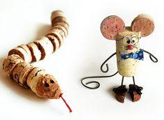 Darling cork animals #winecork wine cork crafts
