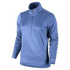 Nike Golf Ladies Thermal 1/2 Zip 2013 - 483707-403 DISTANCE BLUE/WHITE