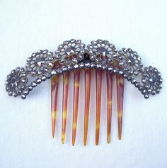 Cut Steel Hair Comb Victorian Hinged Tiara Style Hair Accessory from spanishcomb…