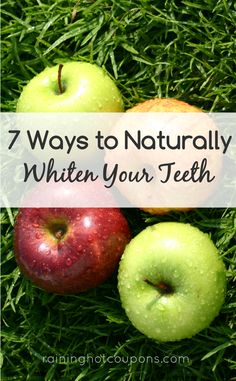 7 Ways To Naturally Whiten Your Teeth. I had no idea apples, strawberries or olive oil could whiten your teeth! Be Natural, Natural Life, Natural Health, Beauty Care, Diy Beauty, Beauty Hacks, Teeth Whitening Remedies, Beauty Secrets, Beauty Tips