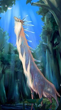 Spirit of the Forrest turning into the Nightwalker - Princess Mononoke