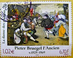 great stamp France € 1.02 postage 6,70 F Pieter Bruegel the Elder (1525-1569) l'Ancien (Peasant Dance, Bauerntanz) flamish painter francobolli Briefmarken Frankreich porto timbres Republique Francaise フランス 切手 ジャガー selos sello France ма́рка Фра́нция | Flickr - Photo Sharing!