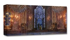 Disney Concepts Treasures on Canvas Gallery-Wrapped Giclée on Canvas Wall Art Beauty and the Beast Live Action Feature Film - Castle Ballroom