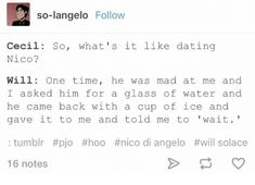 This is frickin precious and adorable, if I was Will Id tackle Nico and cuddle him for being hella savage xD