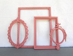 Coral Ornate Vintage Frames Upcycled Painted OPEN by BeautiSHE, $38.00