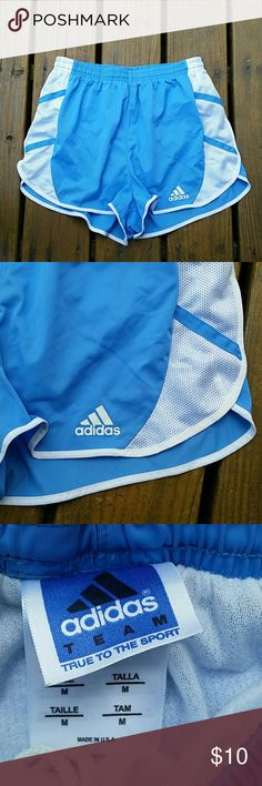 "Adidas Womens Junior Shorts Good condition womens shorts with lining and Drawstring.26""waist and 11.5""from top to bottom. adidas Shorts"